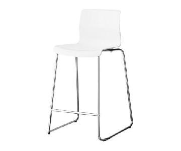 Ikea Glenn White Barstool