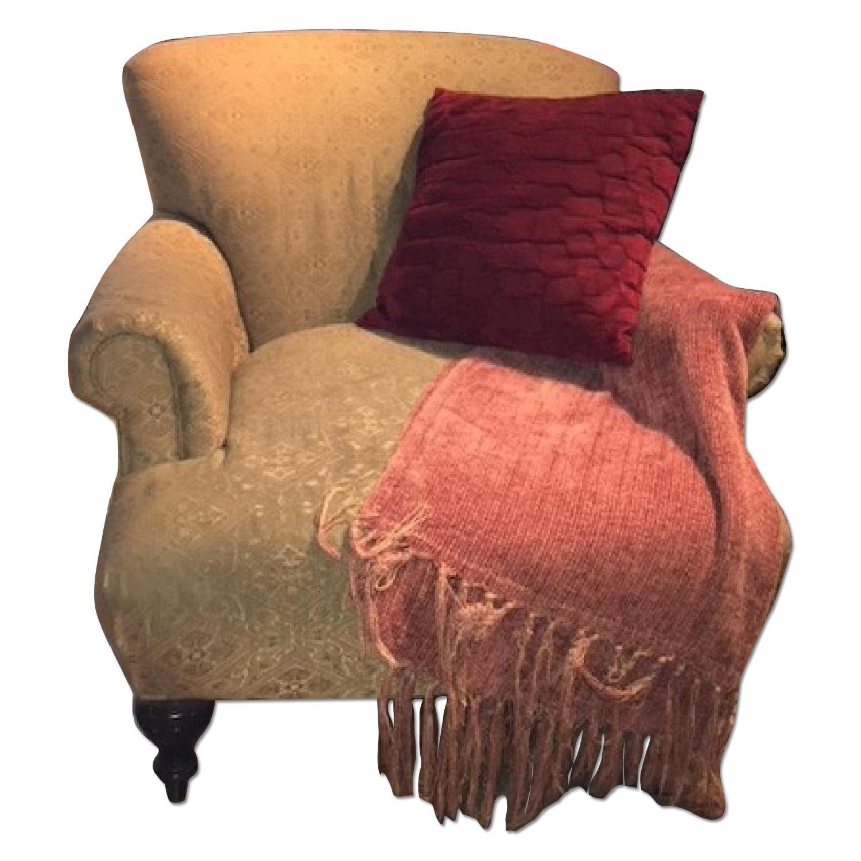 Ethan Allen Fabric Arm Chair ...