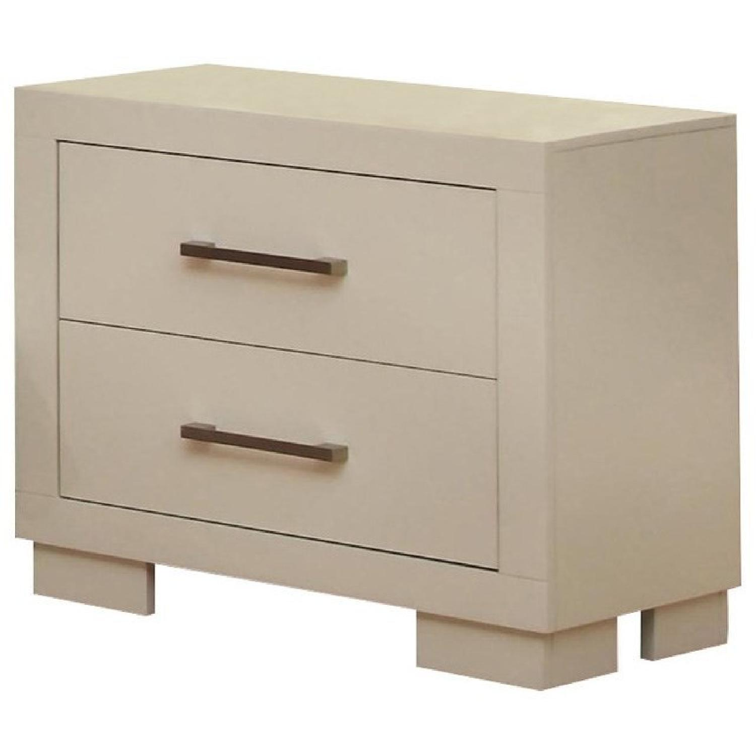 Two Drawer Nightstand in White