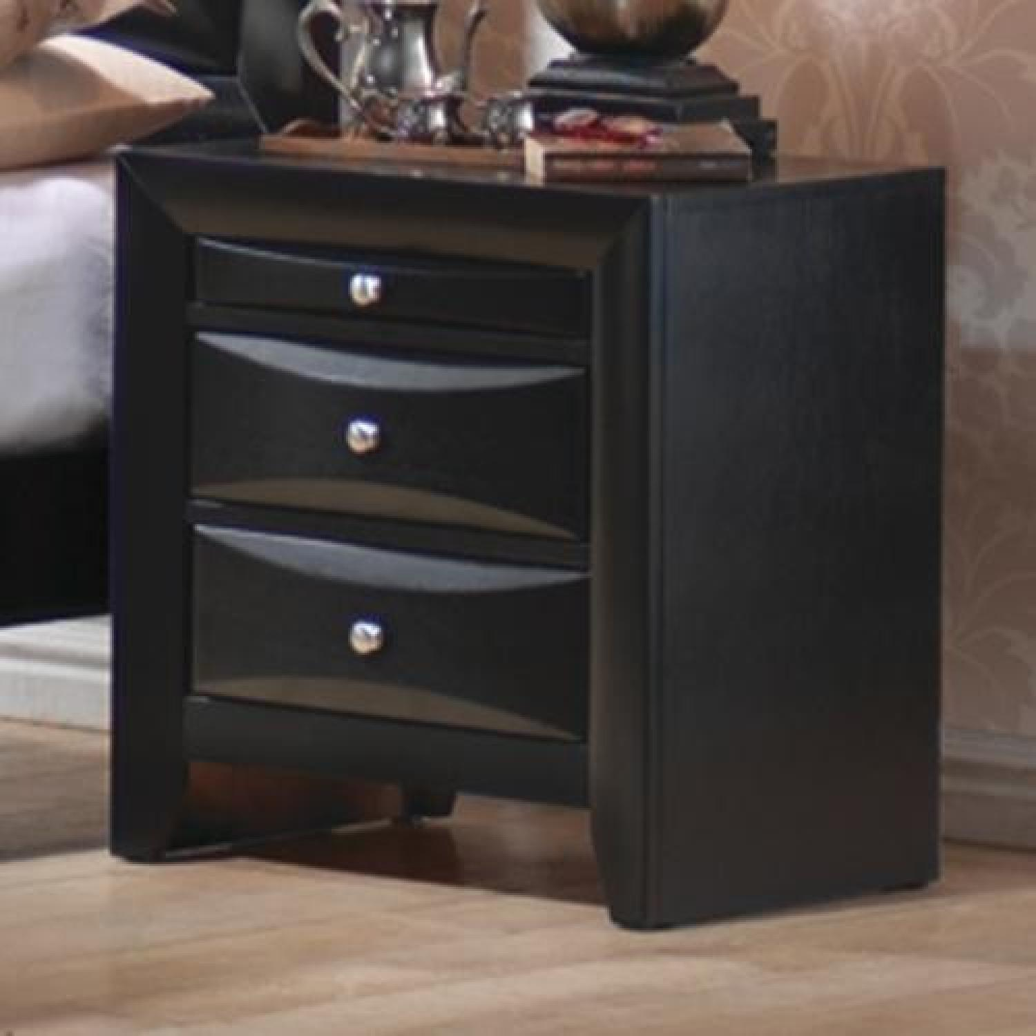 2 Drawer Nightstand In Black Finish