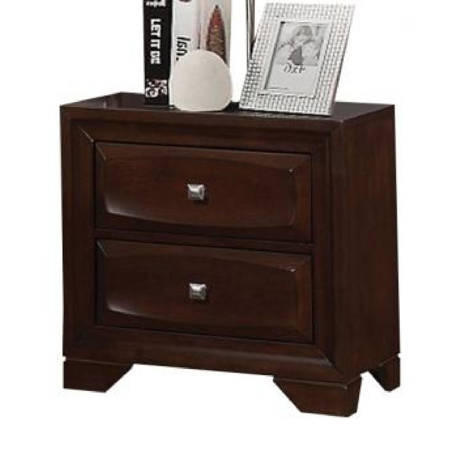Cappuccino 2 Drawers Nightstand