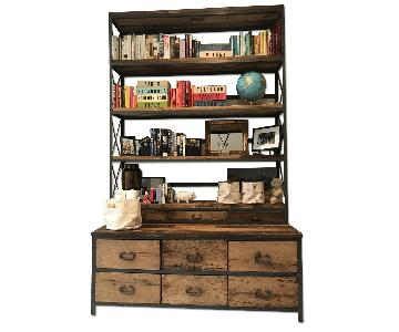 lillian august triple library bookcase w chest of drawers