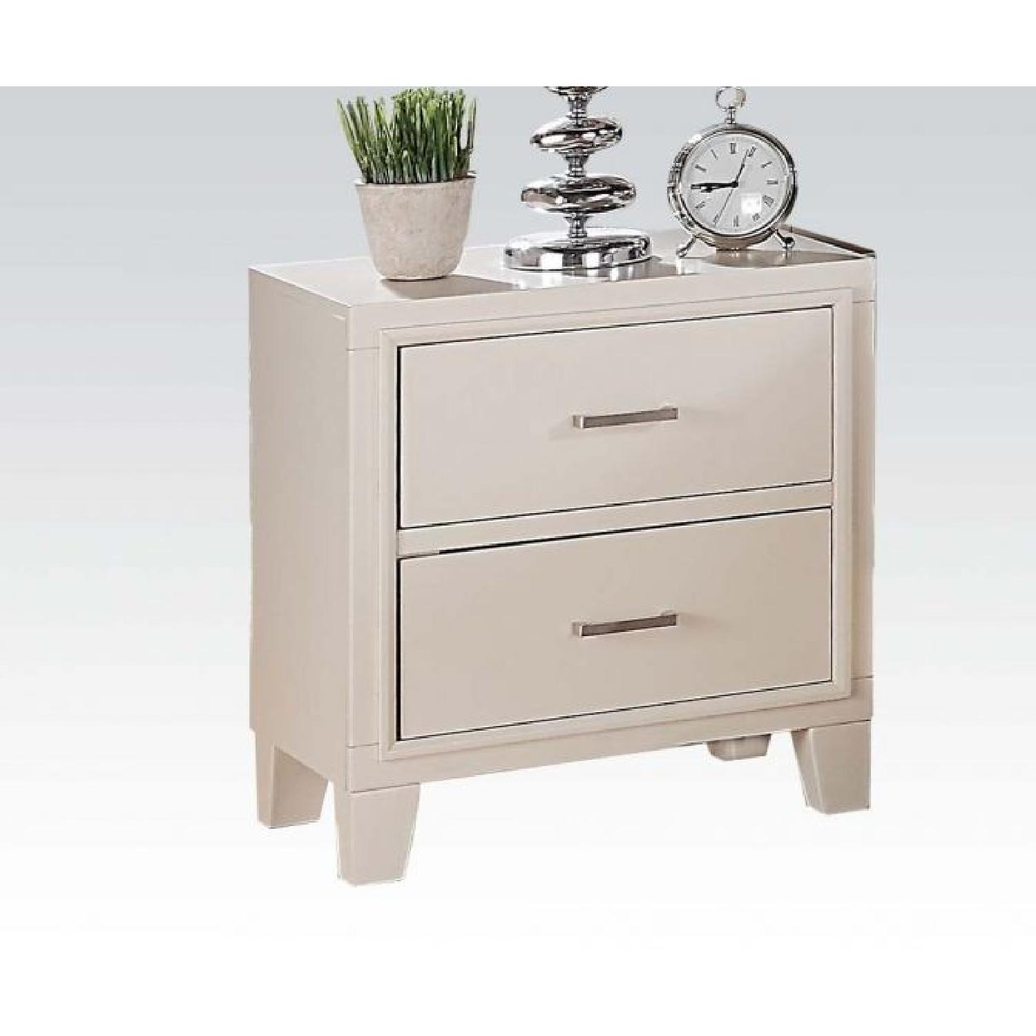 Tyler Cream 2-Drawer Night Stand
