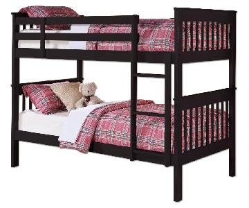 Coaster Rich Black Twin Over Twin Bunk Bed