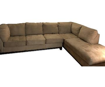 Ashley L-Shaped 2-Piece Sectional Couch