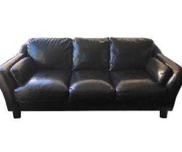 Espresso Brown Leather 3 Seater Sofa