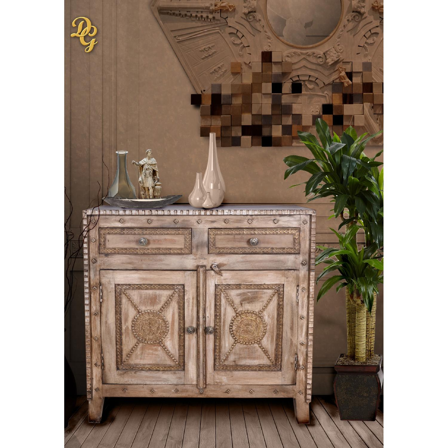 Designe Gallerie Mango Wood Two Drawer Wooden Sideboard