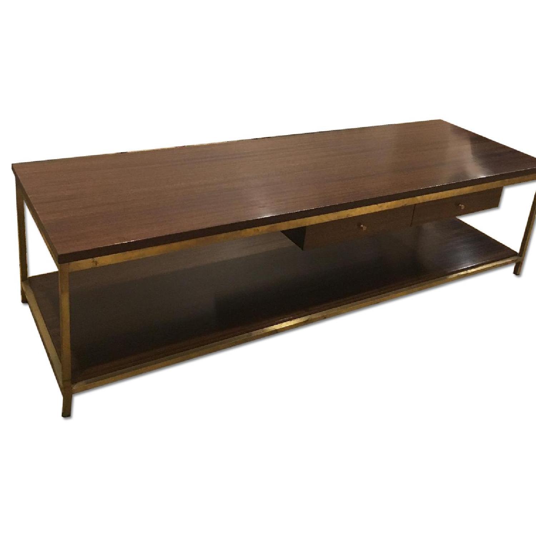Paul Mccobb Mid Century Irwin Collection Brass Coffee Table - image-0
