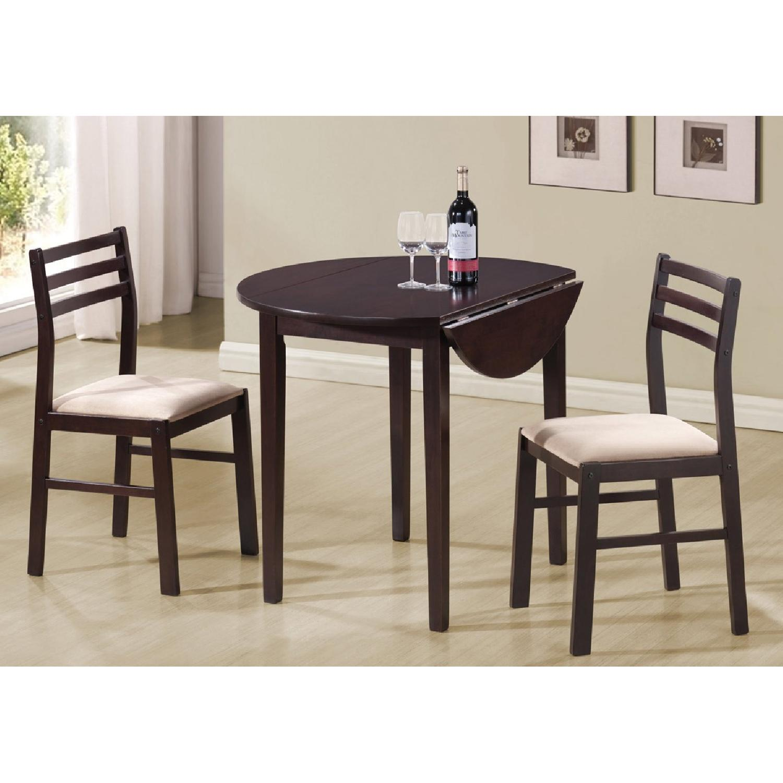3 piece breakfast dining set stool coaster 3piece cappuccino breakfastdining set0 set aptdeco
