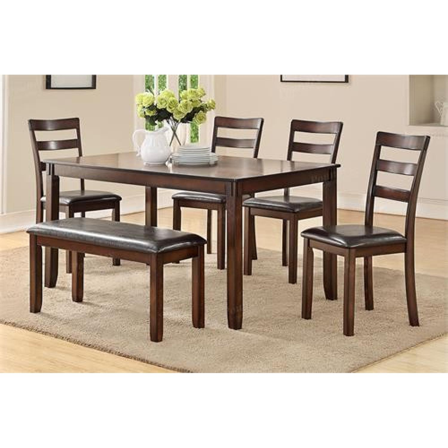6 Piece Casual Dining Set In Brown ...