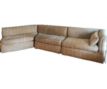 Custom Beige 3 Piece Sectional Sofa