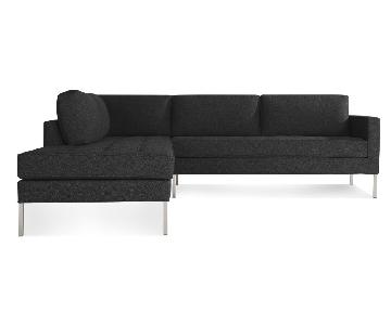 Blue Dot Charcoal Paramount Sectional w/ Left Chaise