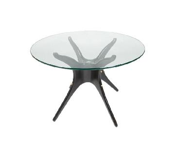 Organic Modernism Black/Glass Dining Table