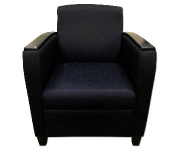 Global Upholstery Co. Blue Reception Chair