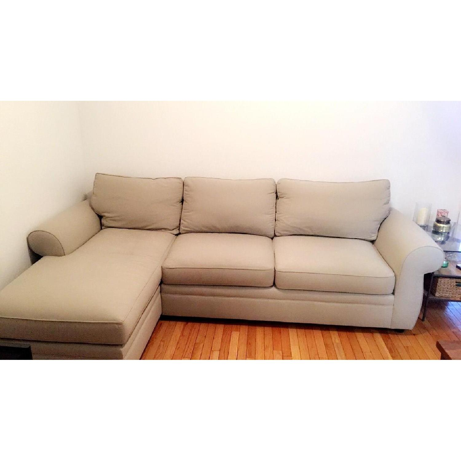 Pottery Barn Townsend 2 Piece Sectional Sofa w/ Chaise ...