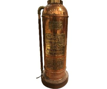 Vintage Fire Extinguisher Standing Lamp