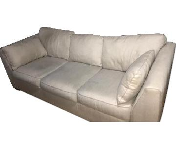 Ashley Fabric Beige Sofa
