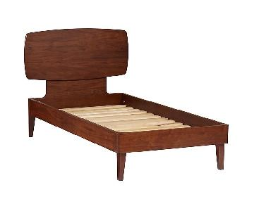 Land of Nod Ellipse Twin Bed in Walnut
