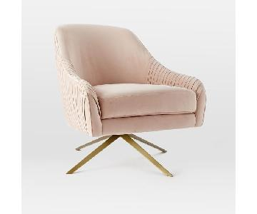 West Elm Roar+Rabbit Swivel Chair in Dusty Blush