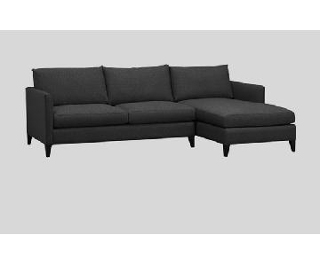 Crate & Barrel Apartment Size Sectional Sofa