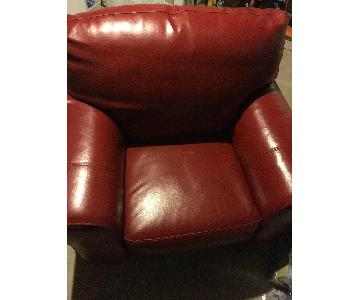 Macys Red Leather Chair