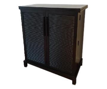 Crate & Barrel Expandable Bar Cabinet