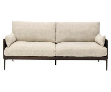 ABC Carpet and Home Core Oak & Linen Sofa
