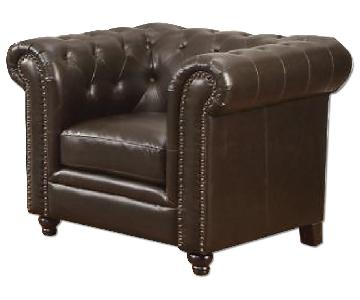 Roy Traditional Button Tufted Chair