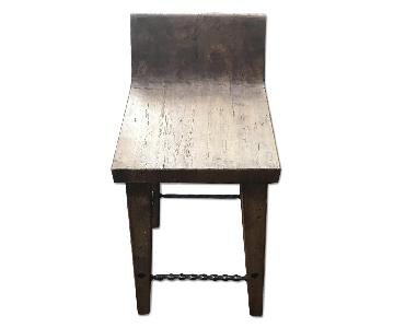 Hewn Wood Bar Stool