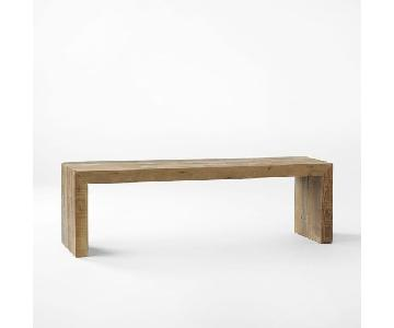 West Elm Emmerson Reclaimed Wood Dining Bench in Pine