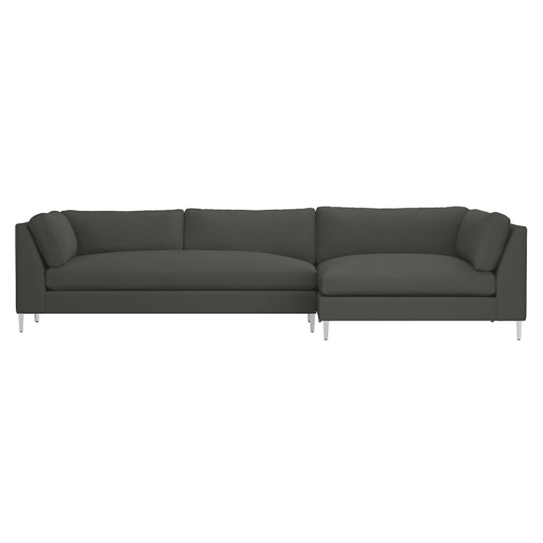 Decke Couch: CB2 Decker Sofa Sectional In Grey