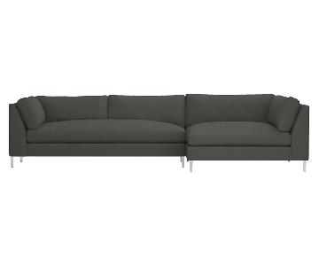 CB2 Decker Sofa Sectional in Grey