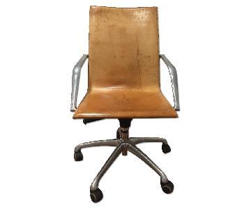 Matteo Grassi Italian Leather Swivel Office Chairs