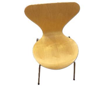 Fritz Hansen Wood Chairs
