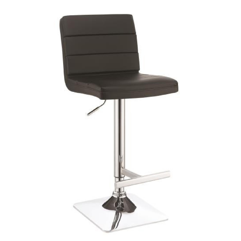 Company Adjustable Bar Stool in Black Finish