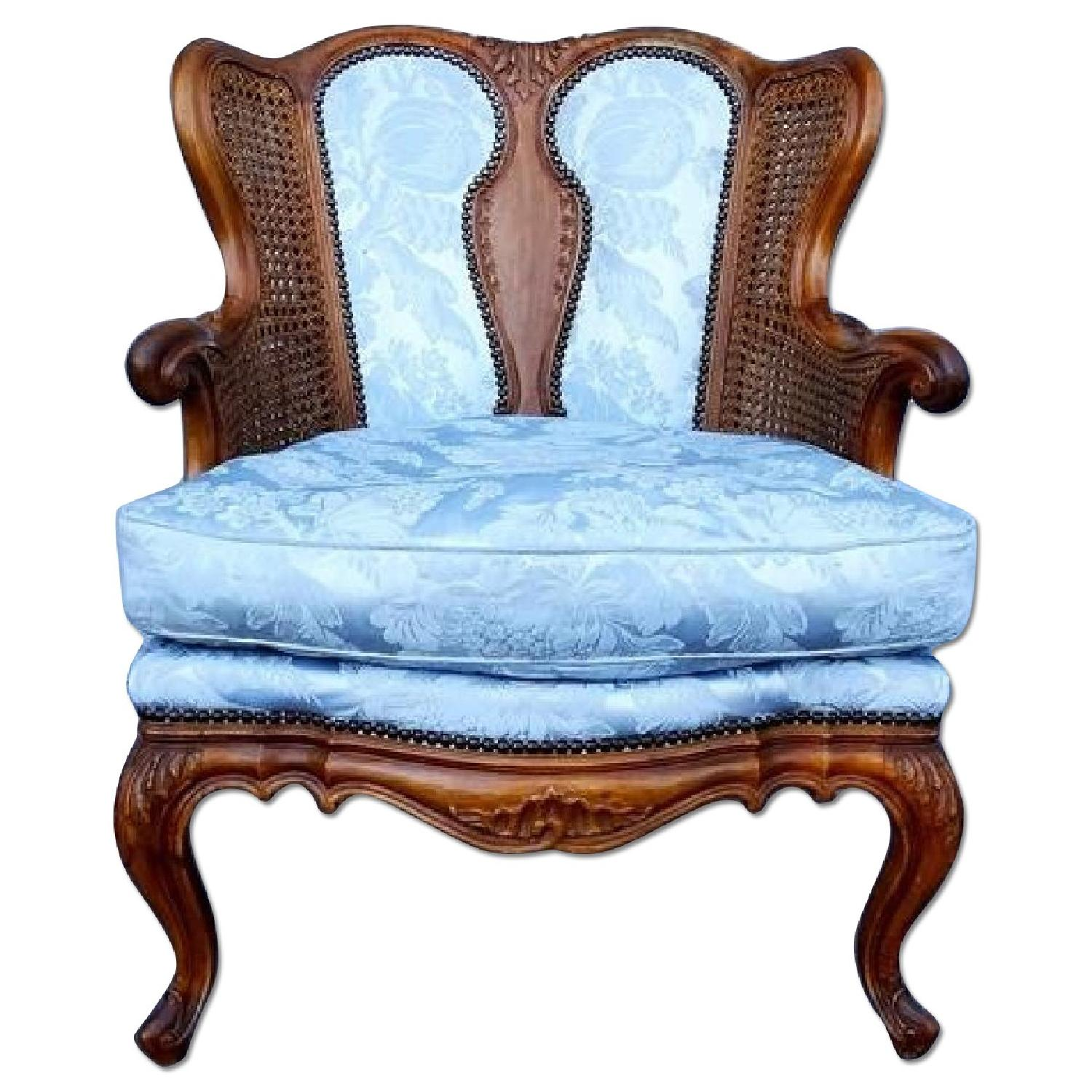 antique french louisxvi style rococo bergere fauteuil aptdeco. Black Bedroom Furniture Sets. Home Design Ideas