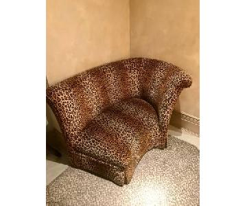Art Deco Leopard Loveseat