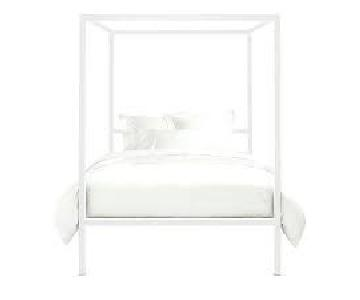 Room & Board Architecture Canopy Bed in White