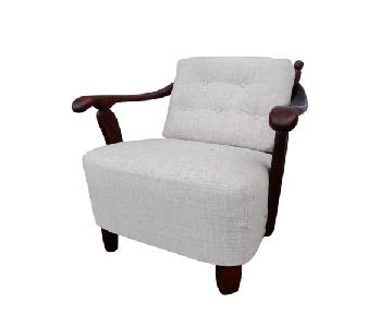 Transitional Style Solid Walnut Armchair