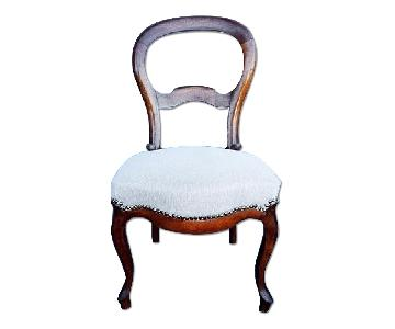 French Balloon Back Reupholstered Dining Chair