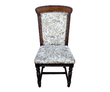 French Antique Louis XIV Style Oak Wood Dining Chair