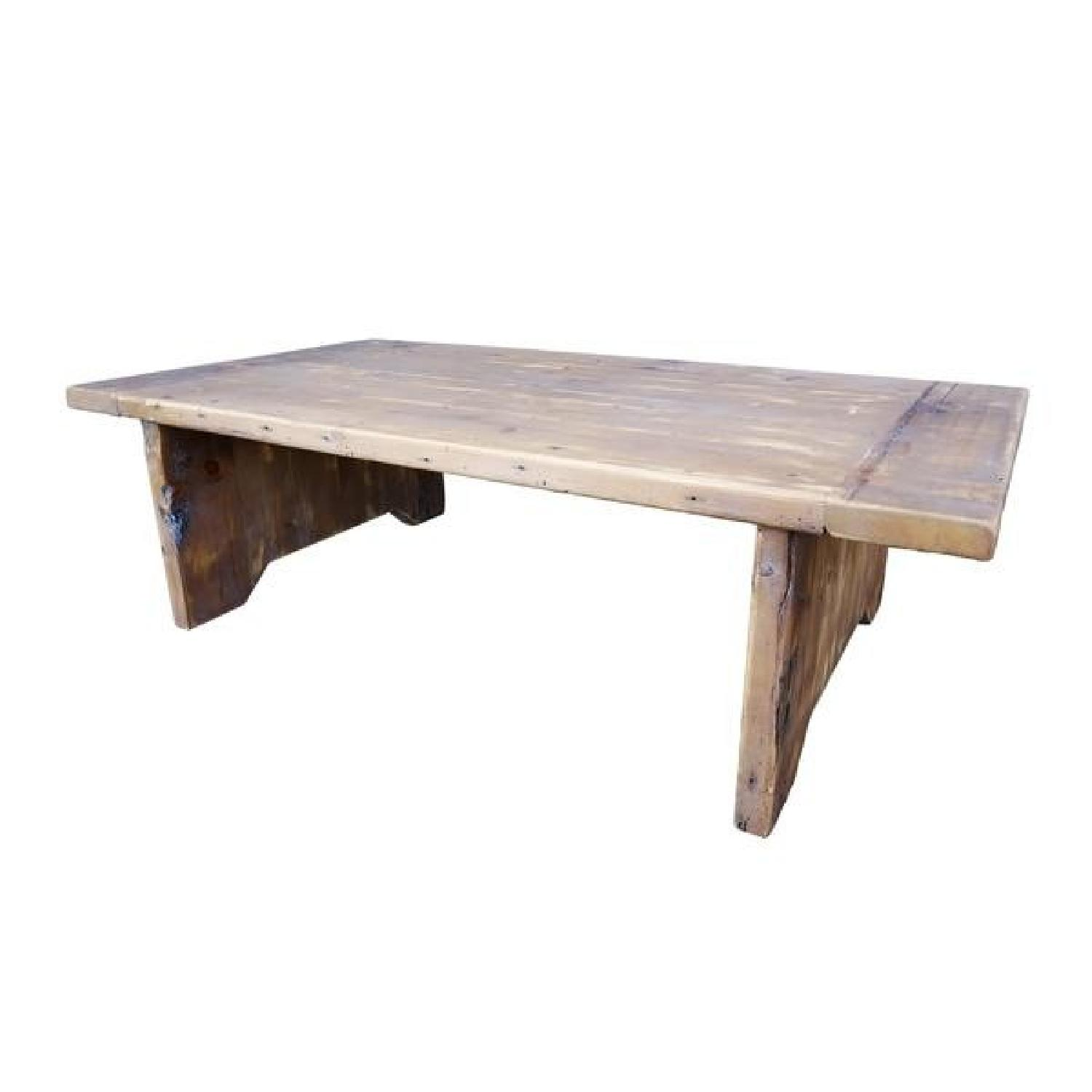 Darvo Reclaimed Wood Rustic Coffee Table Distressed Patina