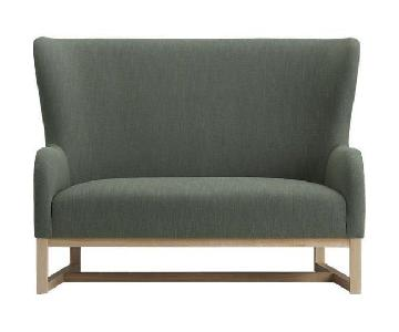 Grey CB2 Suitor Loveseat