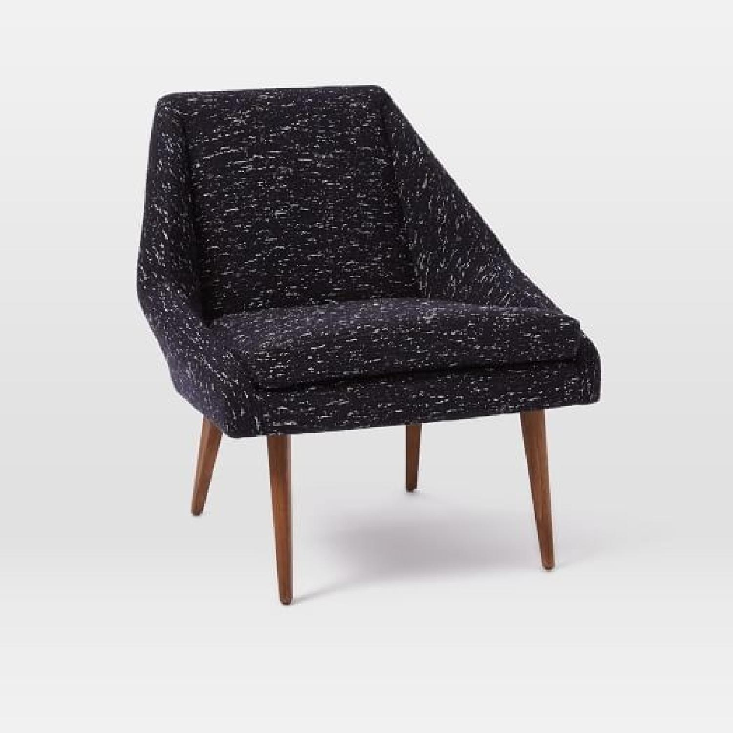 West Elm Parker Slipper Chair In Nordic Weave Indigo ...
