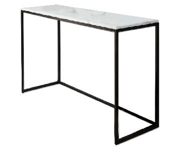 West Box Frame Marble Console