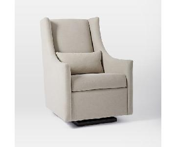 West Elm Graham Glider in Twill Wheat