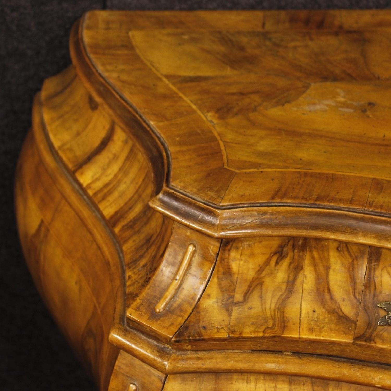 Venetian 5 Drawer Dresser In Walnut & Burl Wood-1