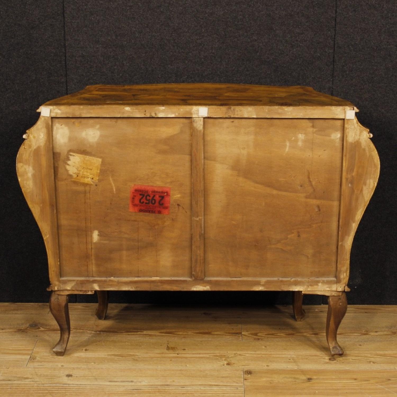 Venetian 5 Drawer Dresser In Walnut & Burl Wood-8