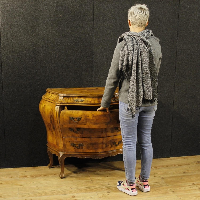 Venetian 5 Drawer Dresser In Walnut & Burl Wood-9