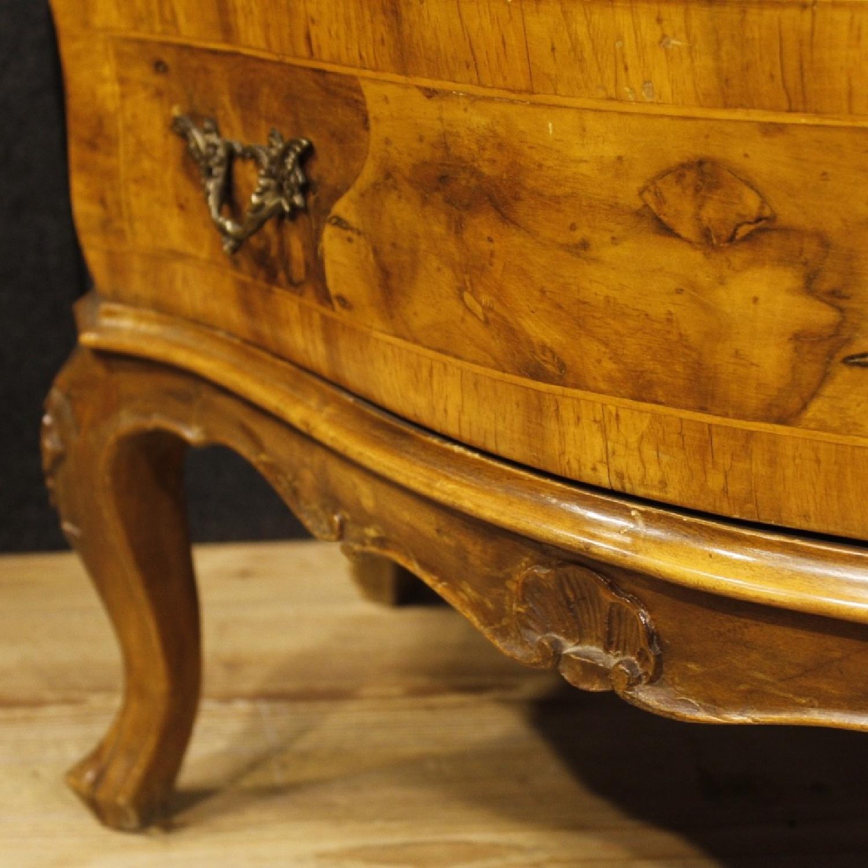 Venetian 5 Drawer Dresser In Walnut & Burl Wood-10